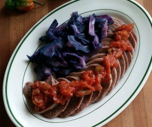 Beef Tongue With Sweet Pepper Sauce