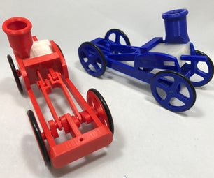 Single Cylinder Air Engine Balloon Powered Rolling Chassis