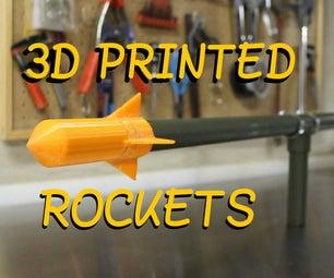 制作自己的火箭炮 - 拍摄3D印花火箭超过100英尺!