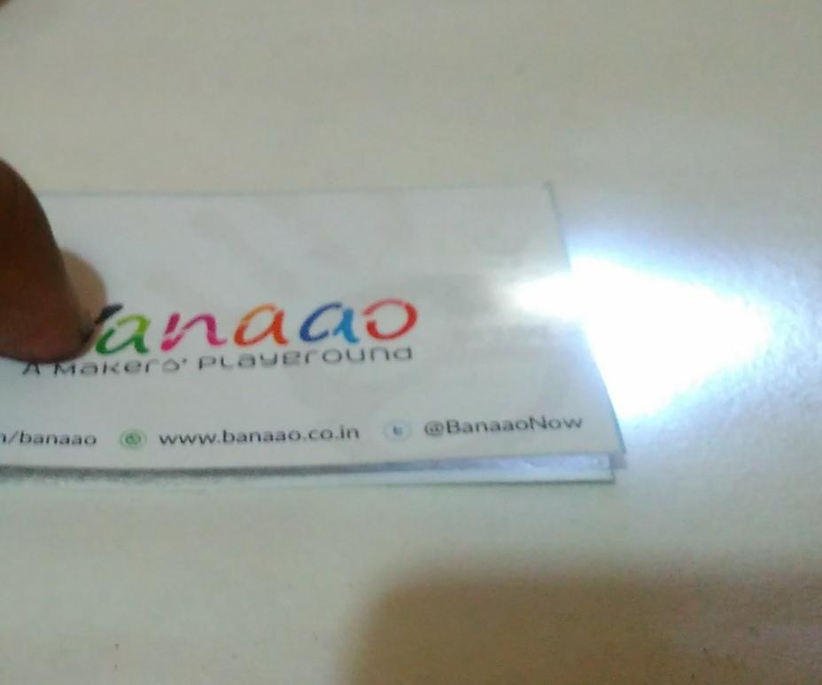 Business Card Flashlight