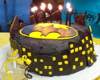 Bat Cookies and Cake