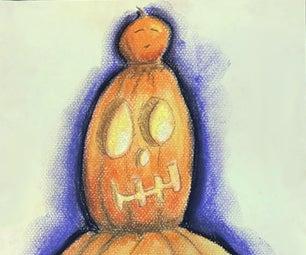 Pumpkin Totem Pole Drawing