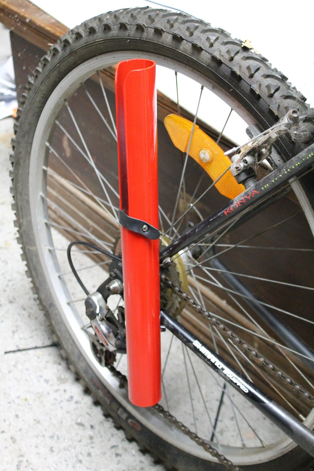 Attaching the Rod Holder to the Bike Frame
