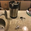 Simple homebrew beer keg washer
