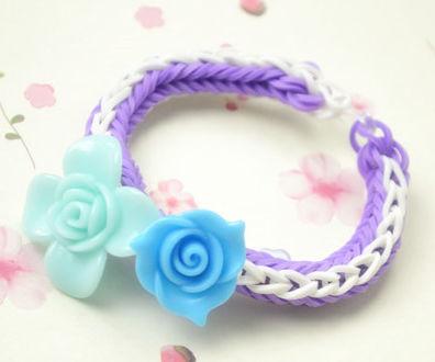 DIY Rose Double Cross Loom Bracelet