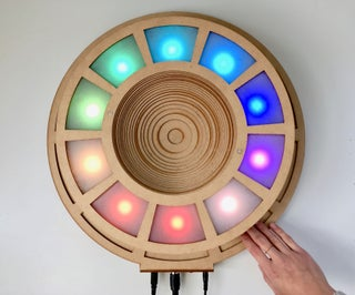LED Eclipse With Touch Sensors and MIDI