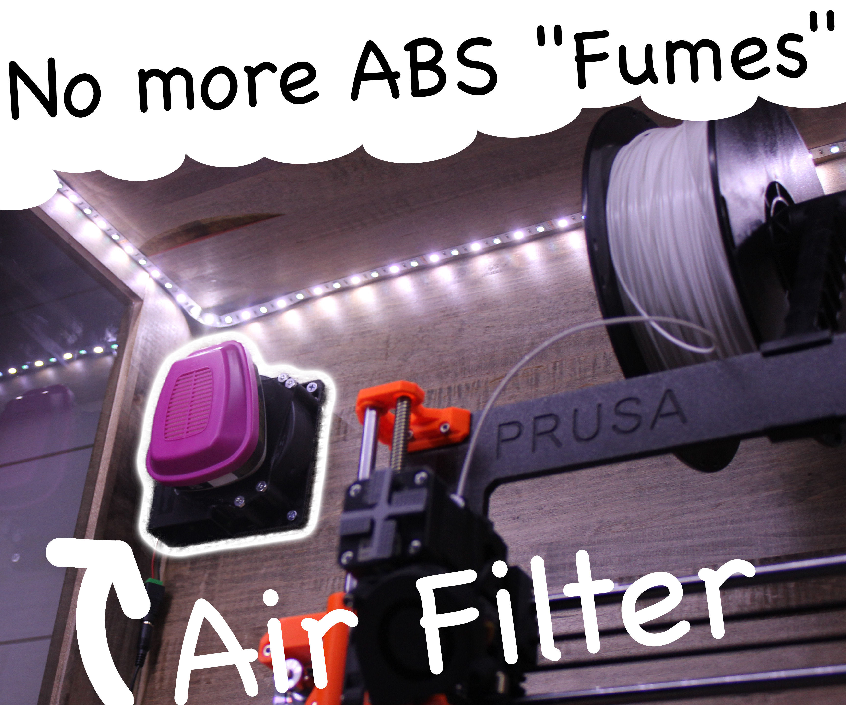 3D Printed Air Purifier -- Gets Rid of the Smell (and Toxicity) of Filament!
