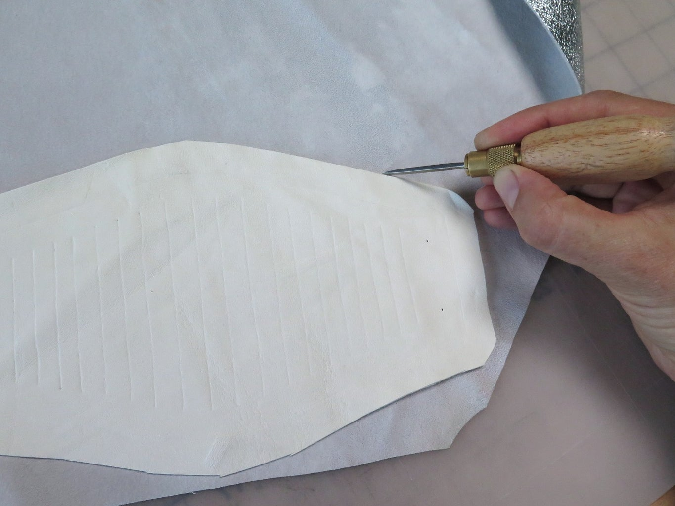 Trace and Cut the Leather