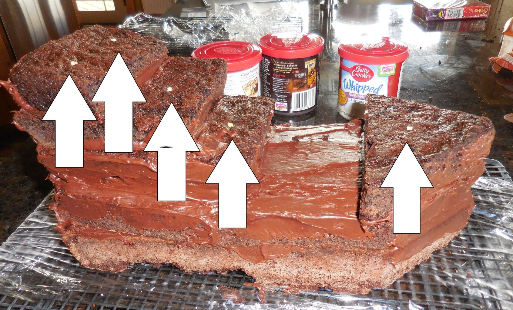 Add Pegs for Support and Crumb Coat the Cake