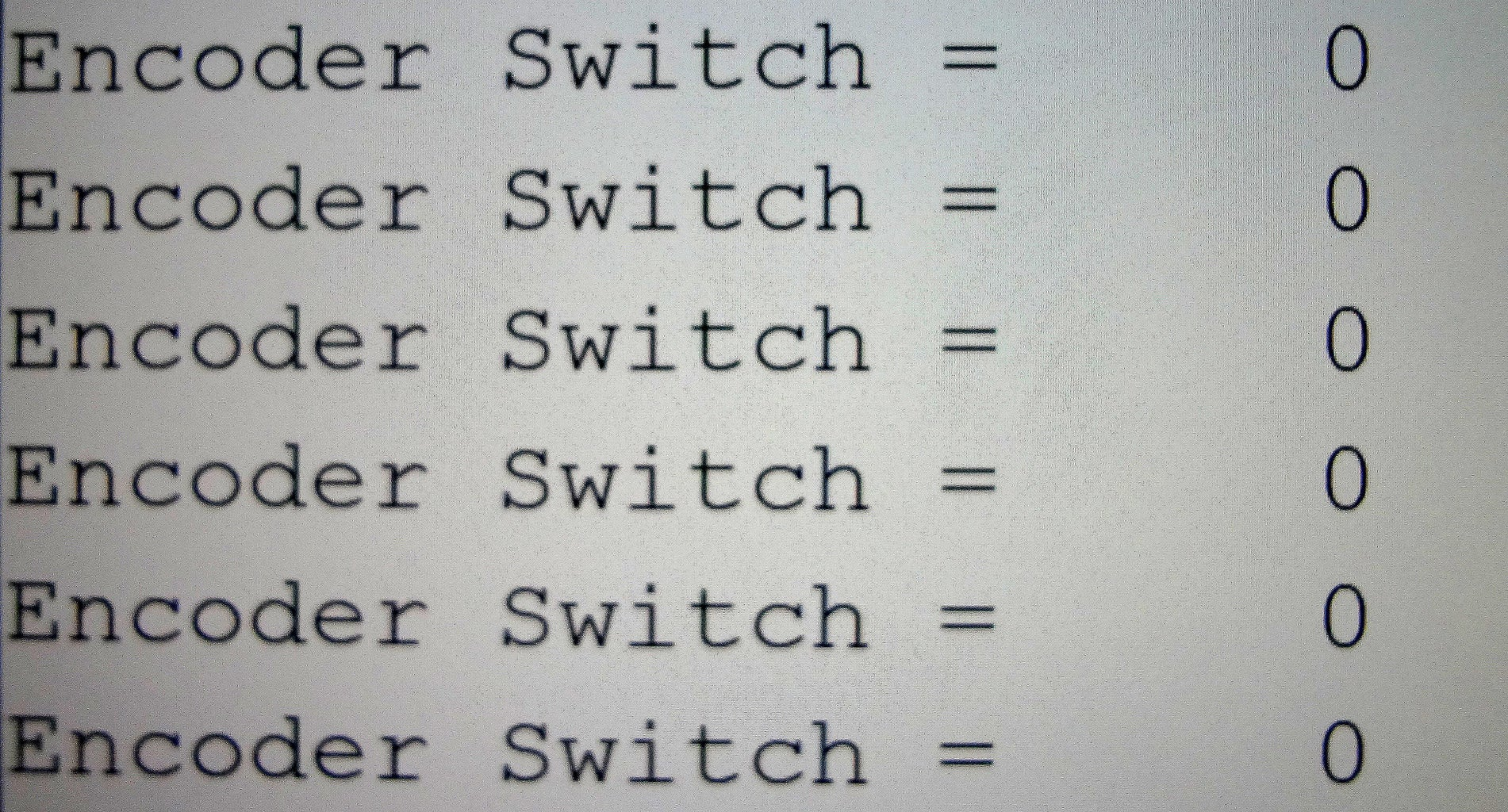 Incremental Rotary Encoder Switch-Example 1