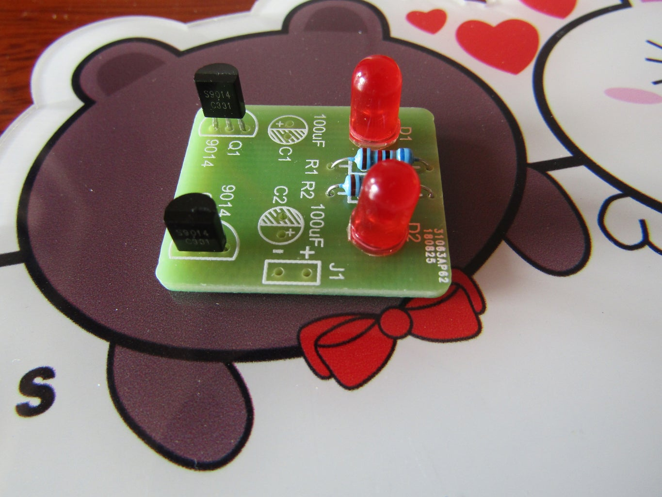 Step One: Solder the Resistors and LEDs and NPN Transistors Into the PCB