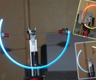 Rotating LED Throwies Driven by a Stirlingengine (eVoltis Stirlingmachine)