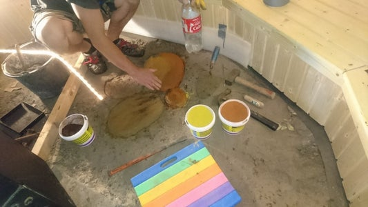 Making Concrete Tiles With Color Pigment