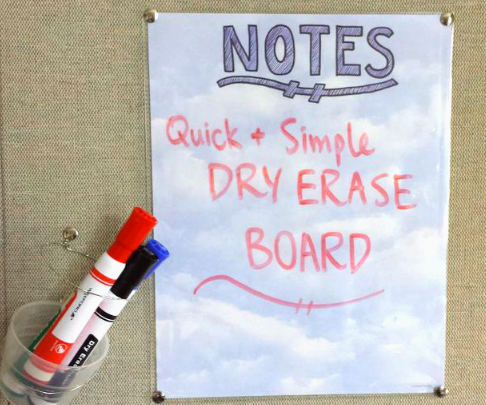 Quick and Simple Dry Erase Board