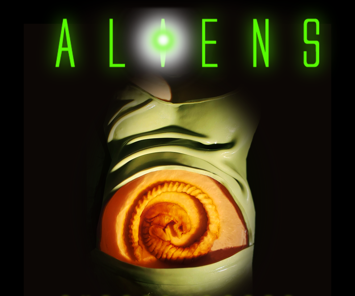 Aliens Inspired Chestburster Gelatin Babycake