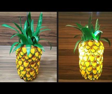 How to Make Pineapple Hanging Light|DIY|Easy Craft & Art Tutorial