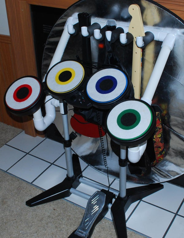 Rock Band Guitar Stand With Optional Built in Drum Supports