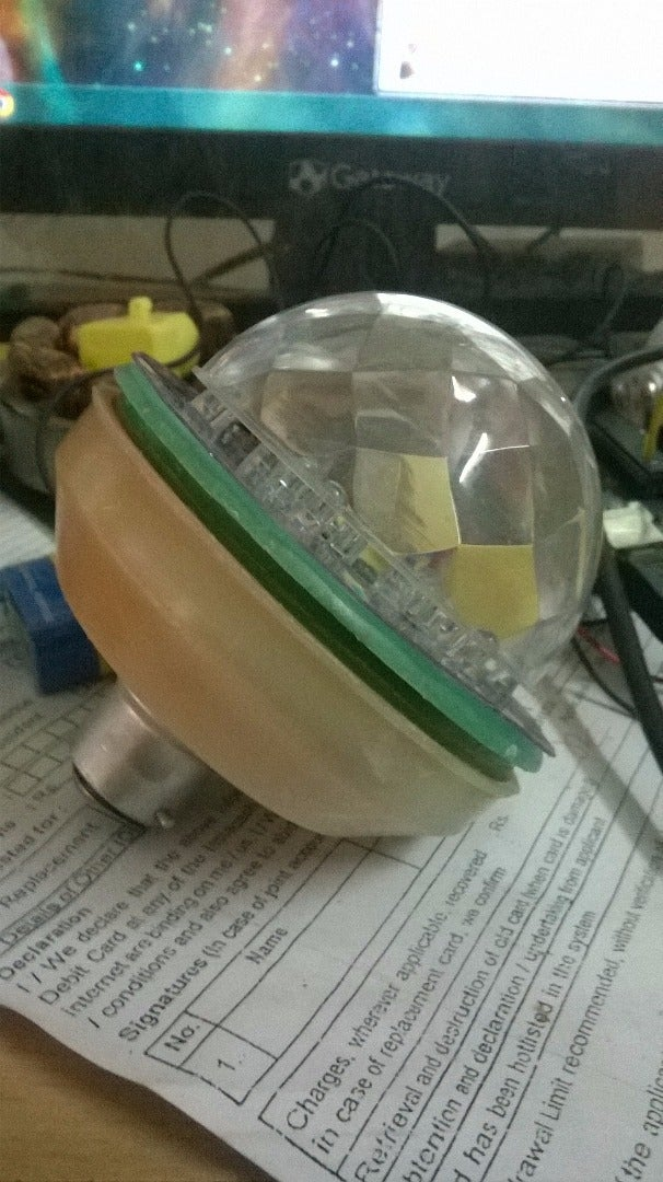 LED Bulb From Household Wastes.