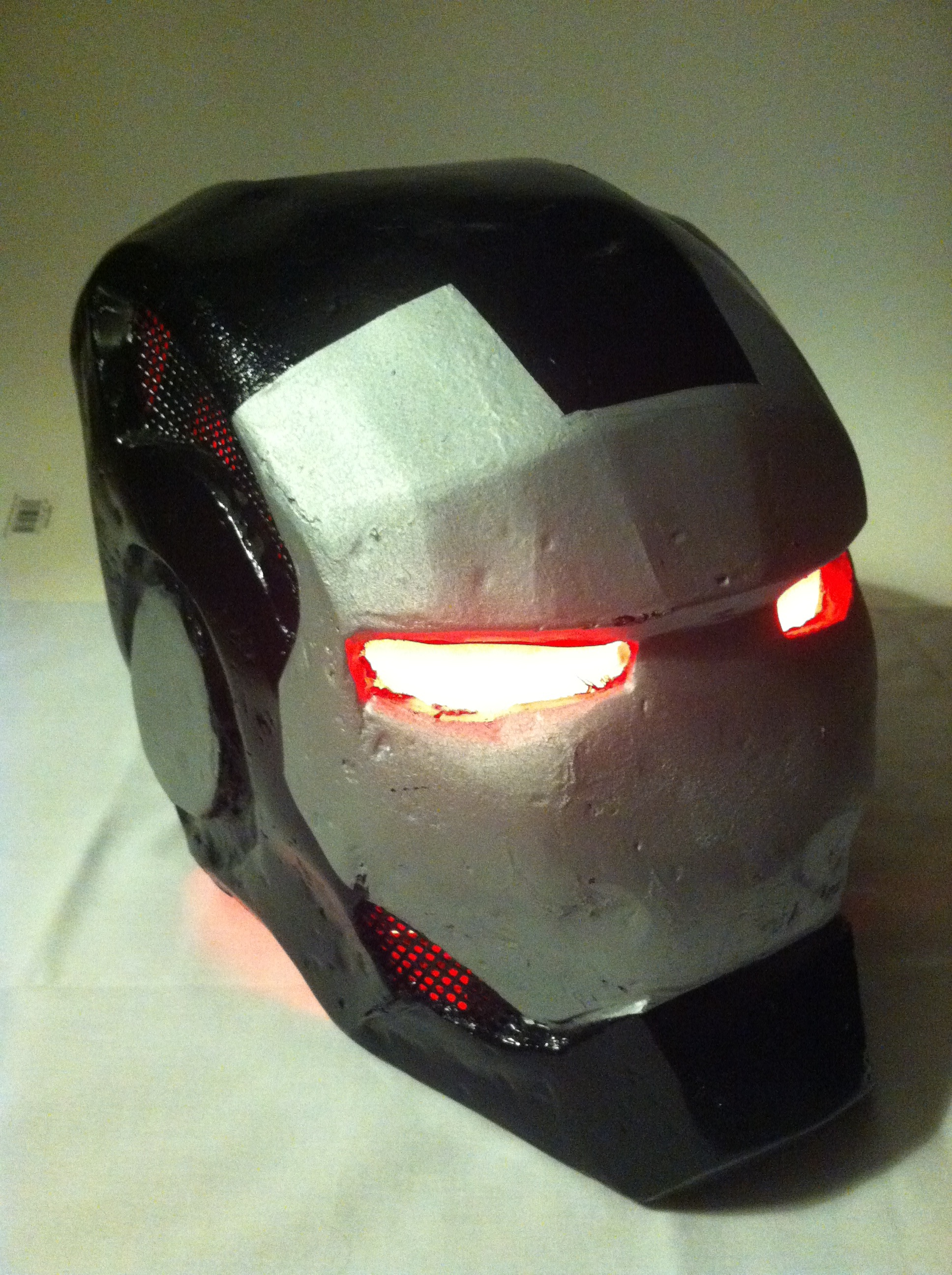 War Machine Helmet with LEDs