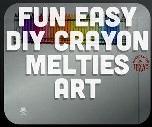 Easy Rainbow Crayon Melties Art!