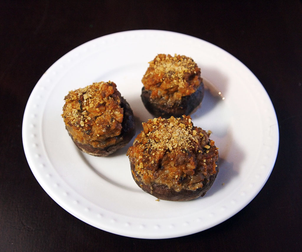 Delicious Flavorful Stuffed Mushrooms