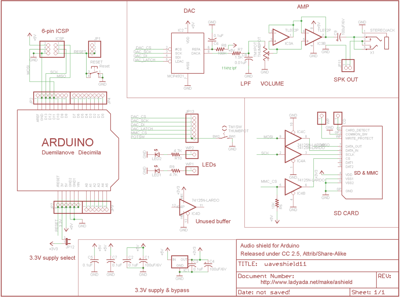 Adafruit Wave Shield Assembly and Customization