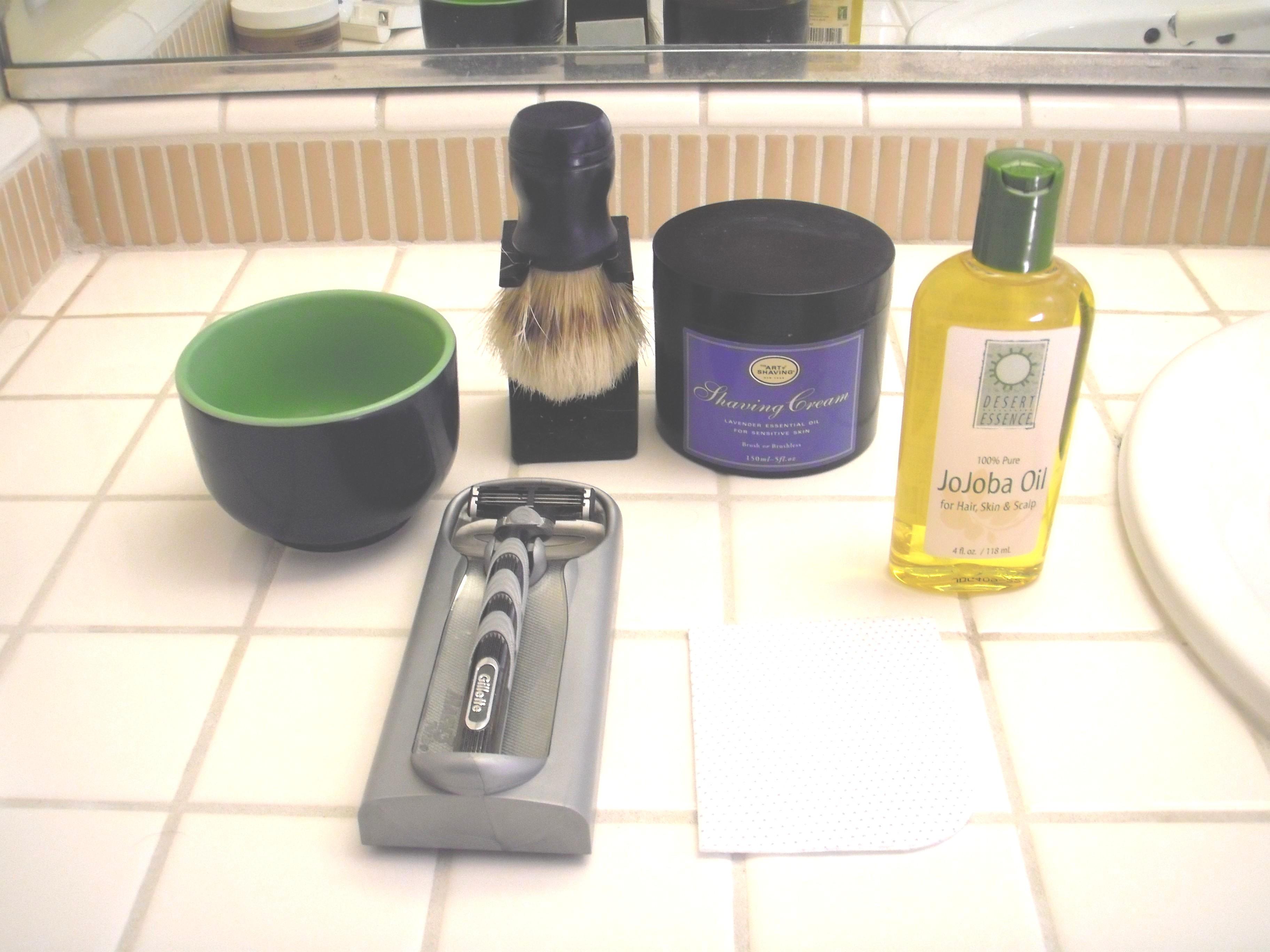 Shaving all natural