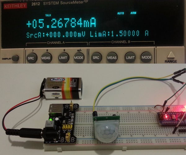 PIR Motion Detector With Arduino: Operated at Lowest Power Consumption Mode