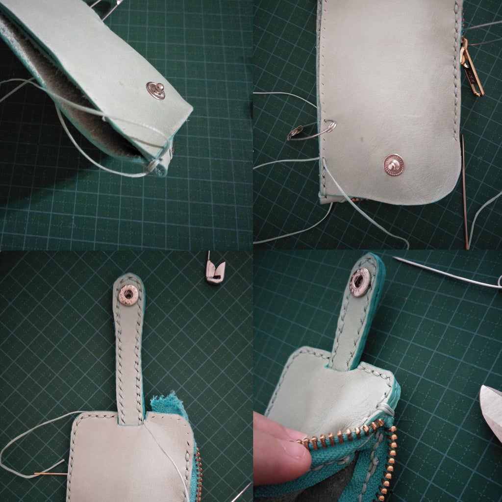 Sewing the Pouch Together