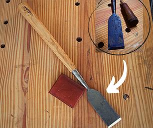 葡萄酒凿子恢复 - 制造木材光滑