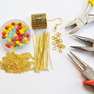 Supplies Needed in Making Fringe Chain Earrings: