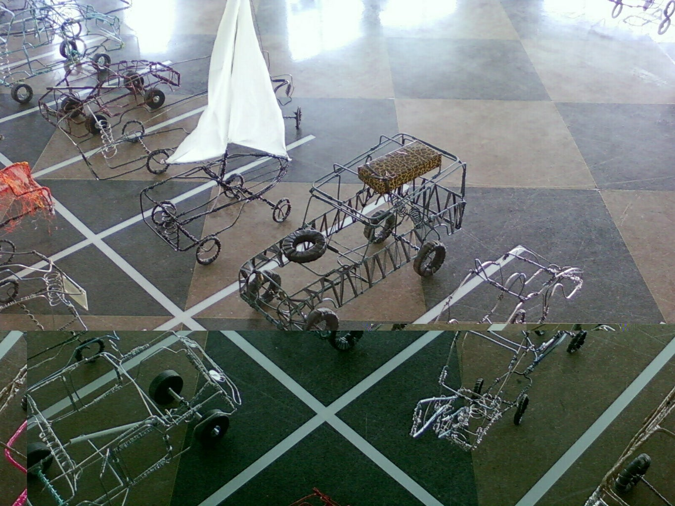 Examples of Completed Wire Cars
