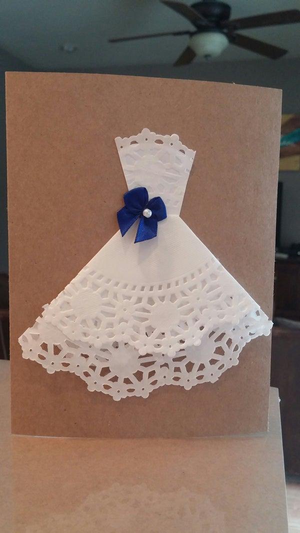 Doily Wedding Dress Bridal Shower Invitation