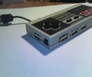 NES Controller / 4 Port USB HUB