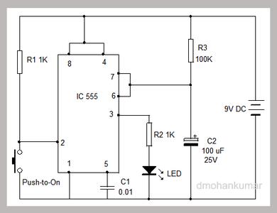 IC 555 Monostable Circuit