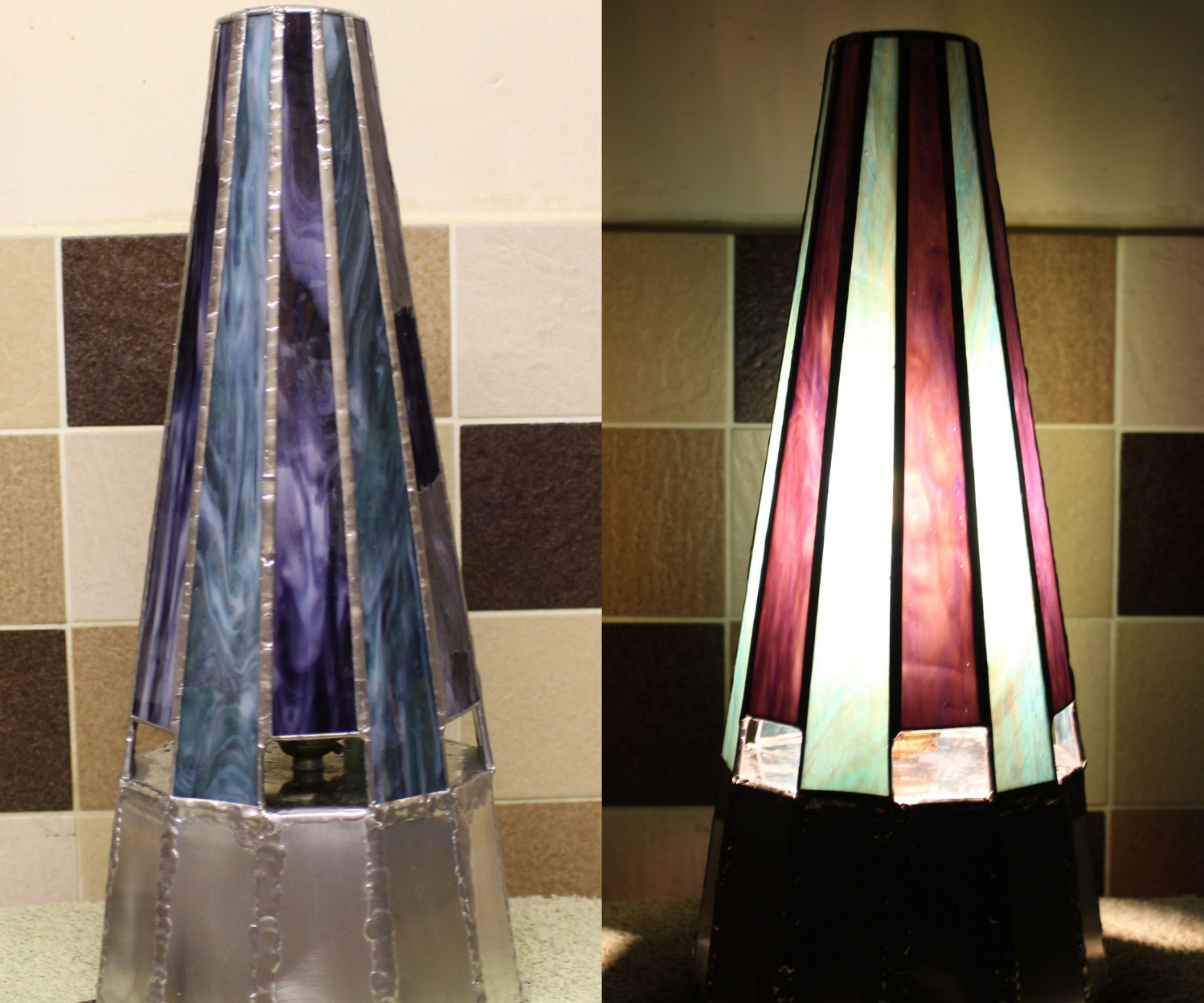 Tiffany Lamp With Tin Sheet Base. (no Jig)