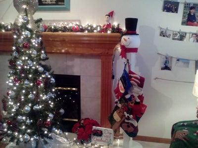 Snowman Christmas Stocking Holder