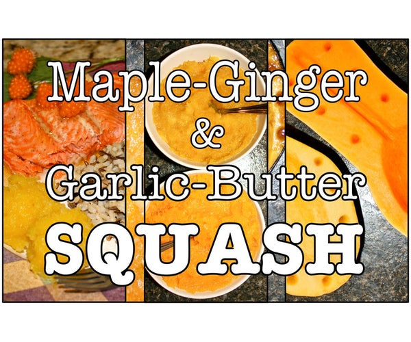 Maple Ginger & Garlic Butter Squash