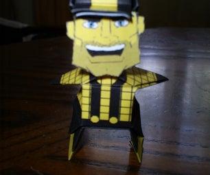 Origami Steeley Mcbeam (steelers Mascot)