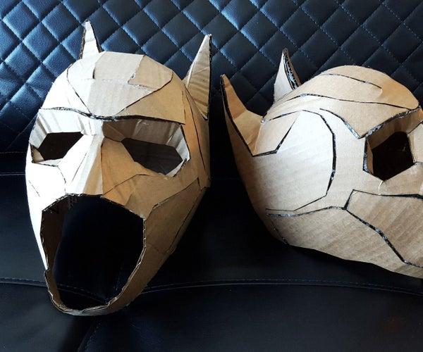 Cardboard Batman Cowl