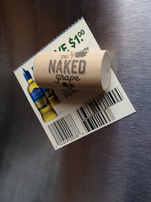 Wine Cork Fridge Magnet