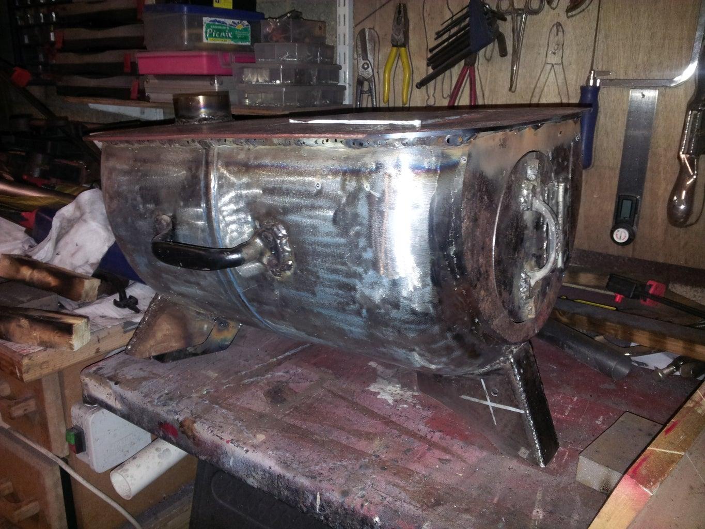 Weld Top Plate to Barrel