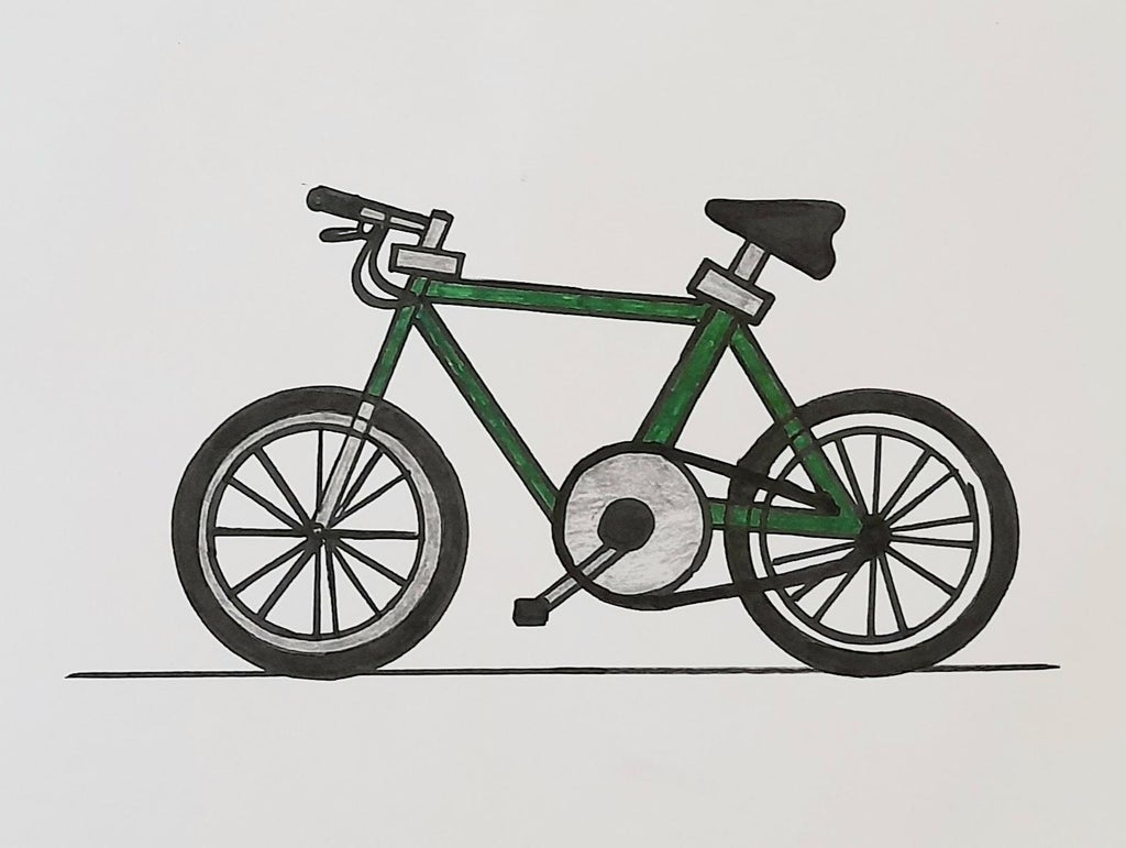 How To Draw A Bike Bicycle 10 Steps Instructables