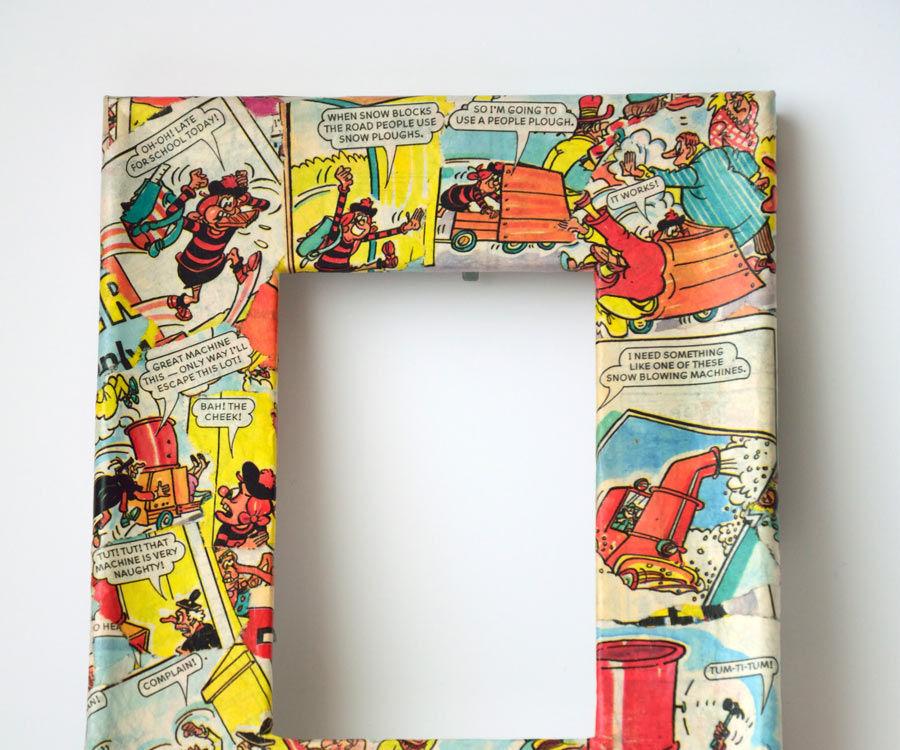Decoupage Picture Frames Using Comics