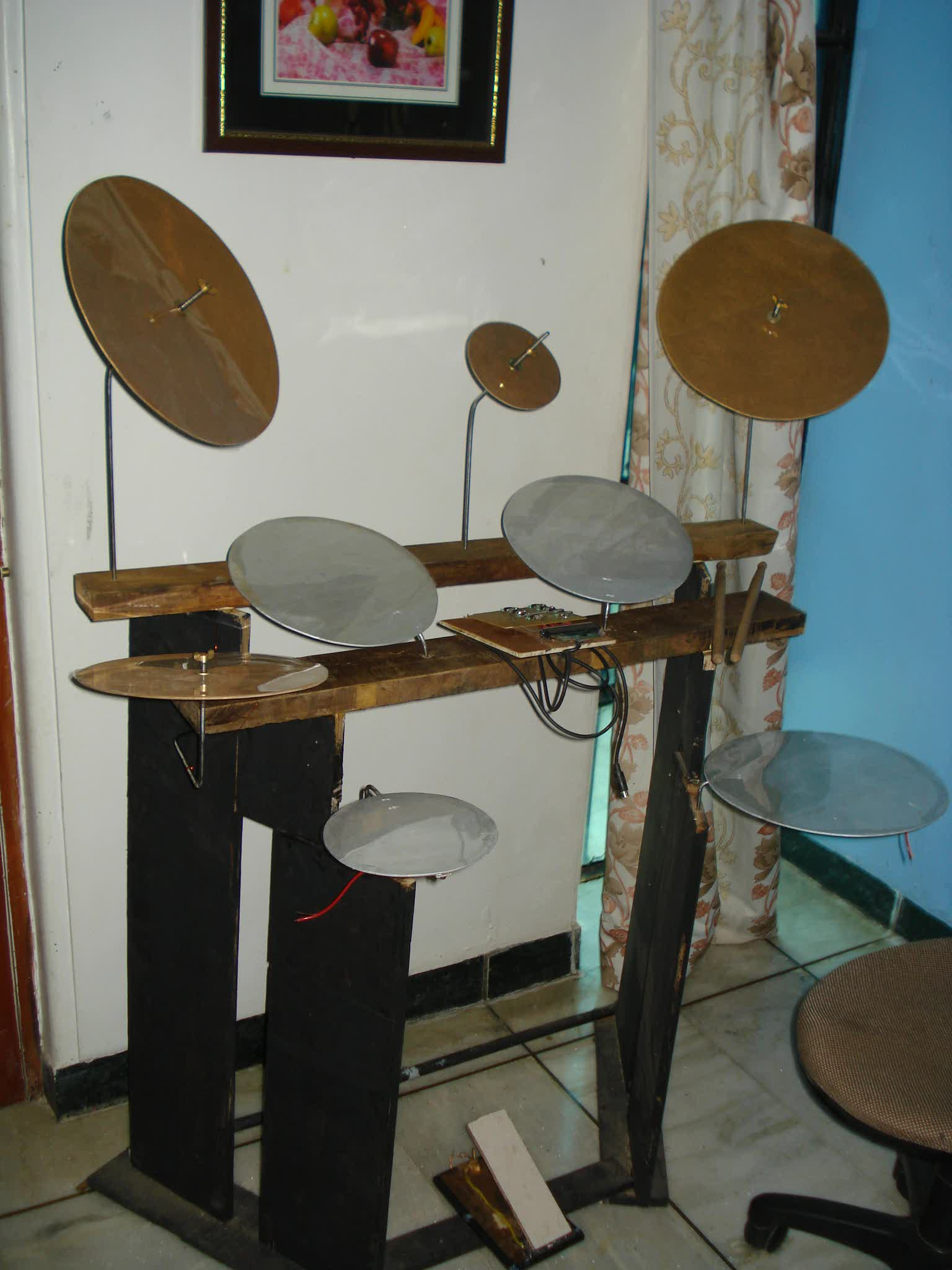 WORLDS CHEAPEST VIRTUAL DRUM at $10 [ Rs.500] - using pc ( no drum module required )