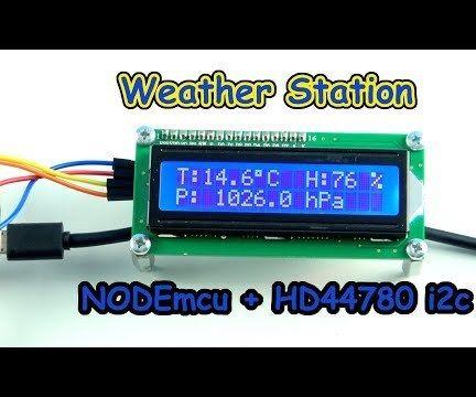 Weather Station NODEmcu I2c HD44780