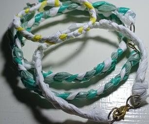 Reused Plastic Bag Bracelets