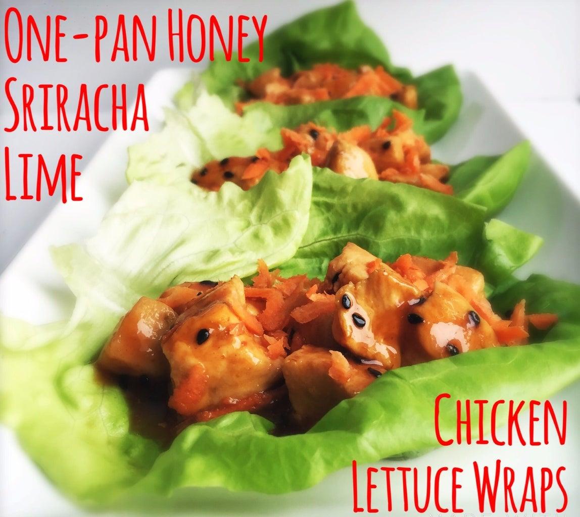 One-Pan Honey Sriracha Lime Chicken Lettuce Wraps
