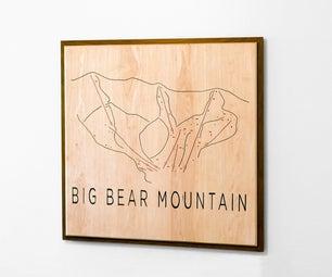 Minimalist Wooden Ski Resort Map