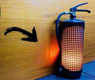 How I Turned a Fire Extinguisher Into a Decorative Fireplace